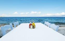 nadmorski stół zdjęcia stock