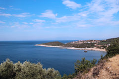 Nadmorski widok od Tassos Grecja Zdjęcia Stock