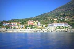 Nadmorski wioska, Grecja Zdjęcia Royalty Free