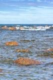 Nadmorski z skałami Obraz Stock