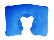 Nadmuchiwana szyi poduszka - błękit Zdjęcie Royalty Free