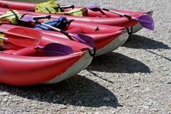 nadmuchiwane łodzie Fotografia Stock