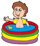 nadmuchiwany chłopiec basen Fotografia Stock