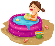 nadmuchiwany dziewczyna basen Obraz Stock