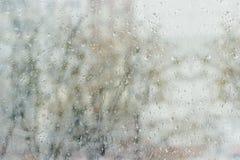 Nadokienna tafla podczas deszczu Zdjęcie Royalty Free