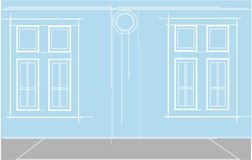 Nadokiennego budynku cyrcle kwadrata prosty colour ilustracja wektor