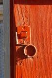 nadokienni żaluzja kędziorki i drzwiowe rękojeści obraz stock