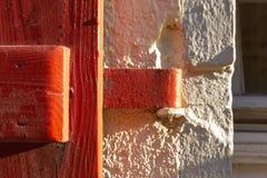 nadokienni żaluzja kędziorki i drzwiowe rękojeści zdjęcie stock