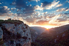 Nadokienny diabeł. Ventano Del Diablo. Villalba De Los angeles Sierra, Cuenca, Zdjęcie Royalty Free