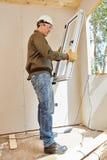 Nadokienny instalator przy woodhouse obrazy royalty free