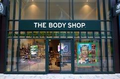 Nadokienny pokaz i powierzchowność Body Shop w Bracknell, Anglia obraz stock