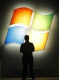 nadokiennych Microsoft 8 zapowiedzi Obrazy Stock
