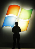 nadokiennych Microsoft 8 zapowiedzi Fotografia Stock