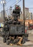 Nadrealistyczny metalu robot Głęboki Ellum i pojazd, Dallas, Teksas Zdjęcie Stock