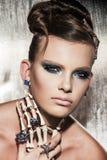 Nadrealistyczny moda portret kobieta Fotografia Stock