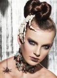 Nadrealistyczny moda portret kobieta Zdjęcia Stock