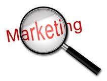 Nadruk bij de Marketing stock afbeeldingen