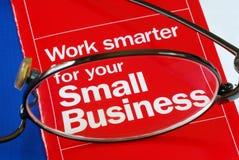 Nadruk op bankwezen met Kleine Onderneming Stock Afbeelding