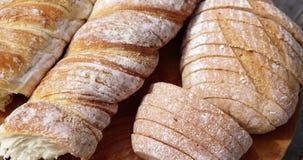 Nadruk op brood stock video