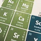 Nadruk op Calcium Chemisch Element stock afbeelding