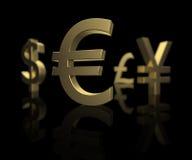 Nadruk op de Euro stock foto