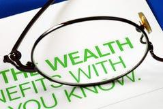 Nadruk op de groei in rijkdom Royalty-vrije Stock Afbeeldingen