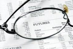 Nadruk op de termijnmarkt stock afbeeldingen
