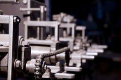 Nadruk op detail van complexe machine Royalty-vrije Stock Foto's