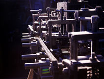 Nadruk op detail van complexe machine Stock Afbeeldingen