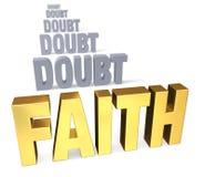 Nadruk op Geloof over Twijfel vector illustratie
