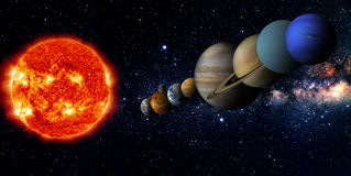 nadruk op: Het Knippen van MercuryWith van het Venus van de aarde Weg Royalty-vrije Stock Foto