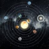 nadruk op: Het Knippen van MercuryWith van het Venus van de aarde Weg Stock Foto's