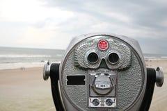 Nadruk op het strand stock foto