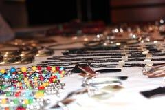 Nadruk op Jewelries Royalty-vrije Stock Foto's
