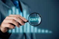 Nadruk op kosten royalty-vrije stock afbeeldingen