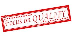 Nadruk op kwaliteit stock illustratie
