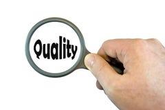Nadruk op Kwaliteit Stock Fotografie