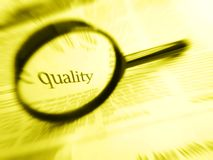 Nadruk op kwaliteit Stock Afbeeldingen