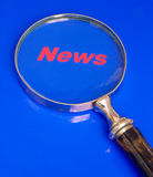 Nadruk op Nieuws. Stock Afbeeldingen
