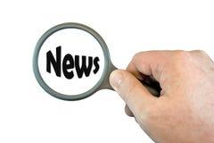 Nadruk op Nieuws Stock Foto's
