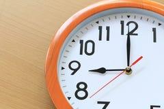 Nadruktijd in klok van negen uur voor het ontwerp in uw busin stock fotografie