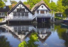 Nadrzeczny Boathouse Zdjęcia Royalty Free