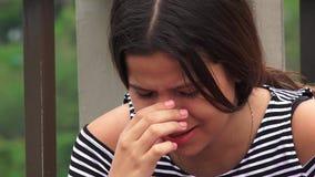 Nadużycie ofiary Lub Nastoletni dziewczyn Płakać zbiory wideo