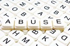 Nadużycie teksta słowa crossword Abecadło list blokuje gemowego tekstury tło Zdjęcia Royalty Free