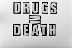 Nadużywania narkotyków ostrzeżenie Obrazy Royalty Free