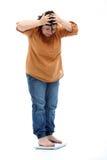 nadwaga kobiety szalkowe trwanie Zdjęcia Stock