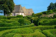Nadwiesi ogródy Marqueyssac w Dordogne, Francja zdjęcie royalty free