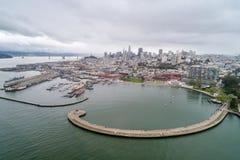 Nadwodny Parkowy molo, zatoczka i Miejski molo w San Francisco, fotografia stock