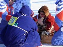 NADYM,俄罗斯- 2008年3月15日:国庆节-稀土的天 免版税库存照片