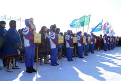 Nadym,俄罗斯- 2008年3月15日:陌生人,队是替换者 免版税库存图片